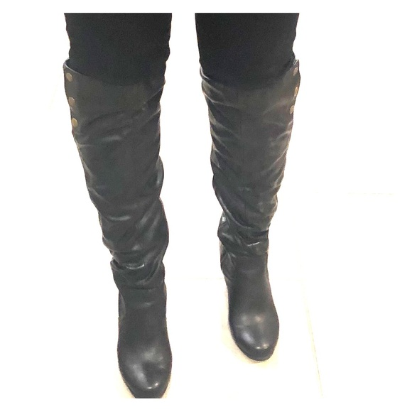 00fbddd1f0df Chinese Laundry Shoes - Chinese Laundry Wedge Over The Knee Boots Size 9